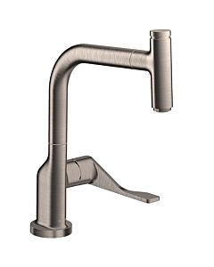 Axor Citterio Select Küchenarmatur 39861800 Edelstahl-Optik, mit Ausziehbrause