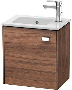 Duravit Brioso Waschtischunterbau BR4000L1079 420x442x289mm, Nussbaum Natur/Chrom, Tür links