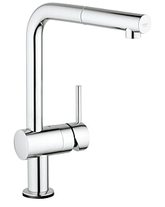 Grohe Minta Touch Küchenarmatur 31360001 elektronisch, chrom, L-Auslauf schwenkbar