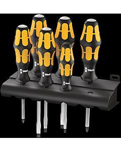 Wera screwdriver Kraftform 932/6 screwdriver set 6 pieces, screw chisel