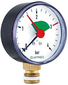 """Afriso Manometer 0-4 bar, senkrecht 63911 Gehäuse 63mm Durchmesser, 1/4"""" Anschluss"""