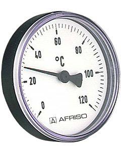 """Afriso Bimetall Thermometer 0-120 Grad 63716 Gehäuse 80mm, 100mm Schaft, 1/2"""" Anschluss"""