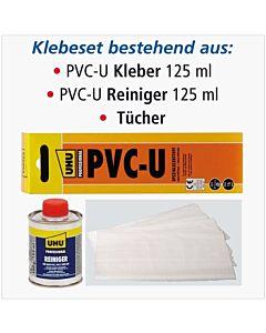 Airfit adhesive set 10000KS 125 ml, PVC-U glue and Reiniger , towels