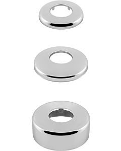 Universal Siphonrosette 112090 Messing verchromt, Höhe 20mm, Außen Ø 90mm, Ø 32mm