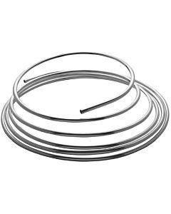 Tube en cuivre dans des anneaux 8x5000mm 450809, chromé, par anneau