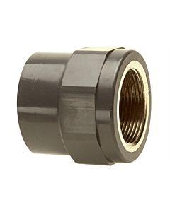 """Bänninger PVC-U Übergangs-Gewindemuffe 1R10115012 63mmxIG 2"""", DN 50, mit zylindrischem IG"""