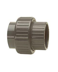 Bänninger PVC-U Rohrverschraubung 1350100012 50mm, DN 40, beidseitige Klebmuffe