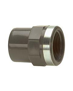 Bänninger réduction en PVC-U 163M104712 50mmx1 2000 / 4 IG, DN 40, avec IG cylindrique