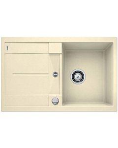 Blanco Metra 45 s évier 513029 78 x 50 cm, PuraDur jasmine, réversible, vidange télécommande avec commande rotative