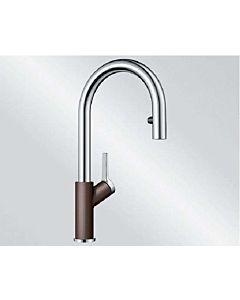 Blanco CARENA-S Vario robinet de cuisine 521378 SILGRANIT-Look cafe / chromé