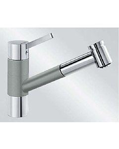 Blanco Tivo-s Küchenarmatur 520755 ausziehbar, SILGRANIT-Look perlgrau/chrom