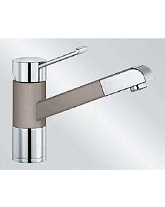 Blanco Zenos-s Küchenarmatur 517828 ausziehbar, SILGRANIT-Look tartufo/chrom