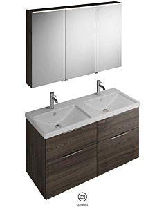 Burgbad Eqio combinaison de lavabo SFAQ123RF201201 largeur 123cm, droite, truffe décor châtaignier, SPGS120, SEYT123