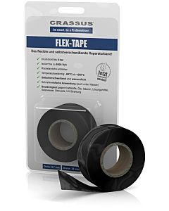 Crassus Flex-Tape CRA70605 25mmx3,5mx0,7mm, selbstverschweißend, schwarz
