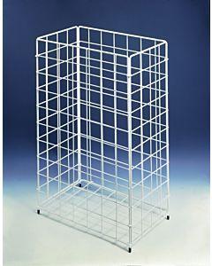 Papierkorb CWS Nr.301, ca 60l.,zusammen klappbar 41x25x62cm aus Stahldraht, weiss 903102000