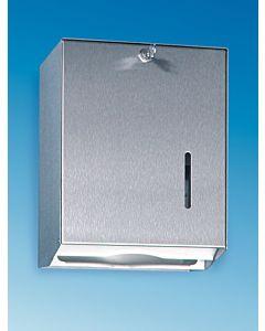 CWS 821 Handtuchspender Universal für 750 Blatt  Aluminium eloxiert, mit Zylinderschloss