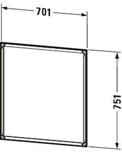 Duravit L-Cube cadre d'installation LC968500000 70 xx 2000 cm, avec LED tactile