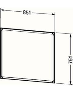 Duravit L-Cube cadre d'installation LC968600000 85 x 2000 cm, avec LED tactile