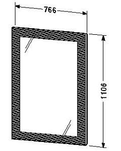 Duravit Delos radiateur miroir UV984800000 pour largeurs 80, 100 cm, 38 W.