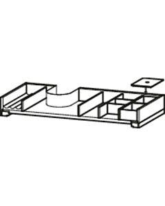 Duravit XSquare Einrichtungssystem UV974707878 für Schrankbreiten 78,4cm, mit Siphonausschnitt, Ahorn