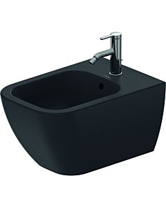 Duravit Happy D.2 wall Bidet 2258151300 35.5 x 54 cm, with tap hole, with overflow, with tap platform, anthracite matt