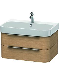 Duravit Happy D.2 Waschtischunterbau H2636505252 77,5x48x38cm, Europäische Eiche, 2 Schubkästen