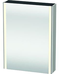 Duravit XSquare armoire avec miroir XS7111L0707 60x80x15,6cm, porte à gauche, béton gris mat