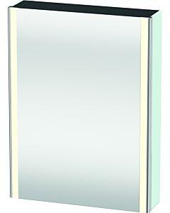 Duravit XSquare armoire-miroir XS7111L0909 60x80x15,6cm, porte à gauche, tapis bleu clair