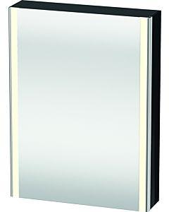 Duravit XSquare Spiegelschrank XS7111L4040 60x80x15,6cm, Tür links, schwarz hochglanz