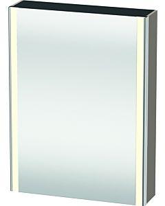 Duravit XSquare Spiegelschrank XS7111L4343 60x80x15,6cm, Tür links, Basalt matt