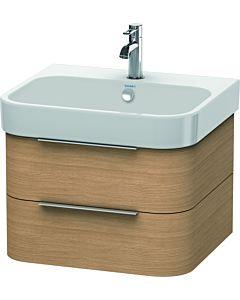 Duravit Happy D.2 Waschtischunterbau H2636305252 57,5x38x48cm, Europäische Eiche, 2 Schubkästen