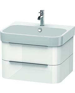 Duravit Happy D.2 Waschtischunterbau H2636402222 62,5x48x38 cm, weiss hochglanz, 2 Schubkästen