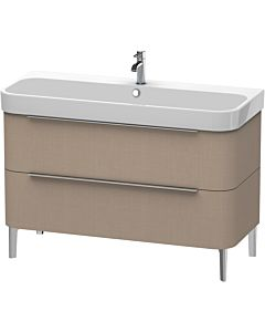 Duravit Happy D.2 Meuble sous lavabo H2637507575 117,5x57,3x48cm, Leinen , 2 tiroirs