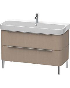 Duravit Happy D.2 Waschtischunterbau H2637507575 117,5x57,3x48cm, Leinen, 2 Schubkästen