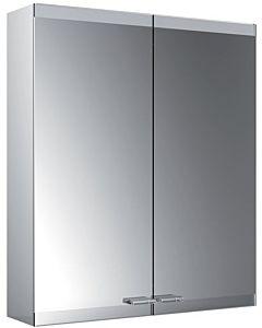 Emco Asis Evo armoire de toilette éclairée en saillie 939708003 600x700mm, sans chauffage de miroir, 2 portes, sans système d'éclairage