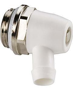 Simplex Entleerstopfen F10622 Standard, schwenkbarer Auslauf aus Kunststoff, Messing vernickelt, G 1/2 M
