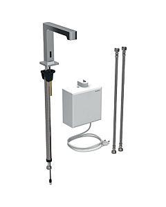 Geberit Brenta infrarouge mitigeur lavabo montage sur pied, fonctionnement sur secteur, boîtier de fonction AP, chromé brillant, avec mélangeur