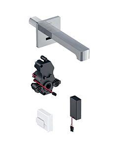 Geberit Brenta Infrarot-Waschtischarmatur 116274211 Wandmontage, Batteriebetrieb, UP-Funktionsbox, hochglanz-verchromt, mit Mischer, 17cm