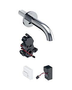 Geberit Piave infrarouge mitigeur lavabo 116281211 montage mural, alimentation secteur, boîtier de mitigeur lavabo , chromé brillant, sans mélangeur, 22cm