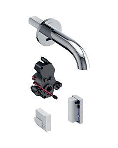 Geberit Piave Infrarot-Waschtischarmatur 116285211 Wandmontage, Generatorbetrieb, UP-Funktionsbox, hochglanz-verchromt, ohne Mischer, 22cm