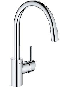 Grohe Concetto Spültisch-Einhebelmischer 31212003 chrom, Niederdruck, schwenkbarer Rohrauslauf, innenliegende Wasserführung