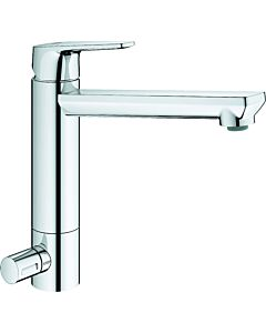 Grohe BauEdge single-lever sink mixer 31696000 chrome, swiveling, medium-high spout
