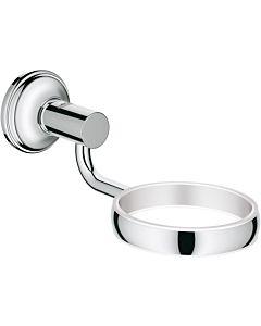Grohe Essentials Authentic Halter 40652001 chrom, für Glas, Seifenpender-/schale