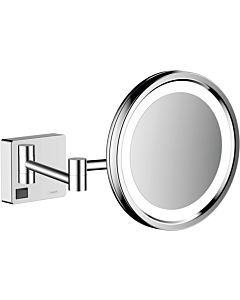 hansgrohe AddStoris shaving mirror 41790000 with LED light, wall mounting, chrome