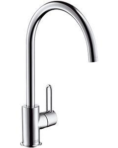 hansgrohe Küchen Armatur Axor Uno² 388830800 schwenkbarer Auslauf, edelstahl-optik