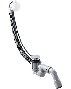 hansgrohe Flexaplus S Komplettset 58316000 mit Ab-/Überlaufgarnitur, für Normalwanne, chrom
