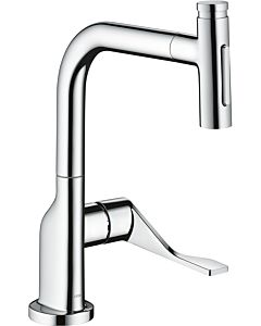 hansgrohe Select single-lever sink mixer 39863000 with pull-out spray, chrome