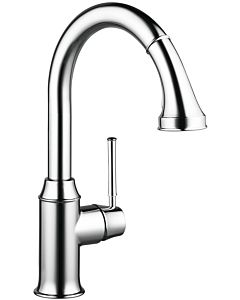 hansgrohe Talis kitchen single lever mixer 73870000 chrome, with sBox, swivel range 150 °