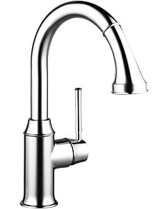 hansgrohe Talis kitchen single lever mixer 73871000 chrome, with sBox, swivel range 150 °