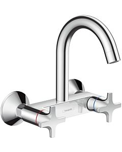 hansgrohe Logis two- hansgrohe Logis mixer 71286000 Highspout, wall-mounted, swivel spout, chrome